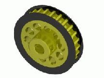 3Racing Aluminum Center Pulley Gear T26