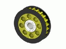 3Racing Aluminum Center One Way Pulley Gear T22