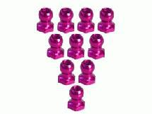 3Racing 4.8MM Hex Ball Stud L=5 (10 pcs) - Pink for Sakura Zero S, XI, FF