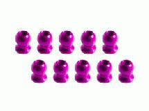3Racing 5.8MM Hex Ball Stud L=5 (10 pcs) - Pink For Sakura XI, FF