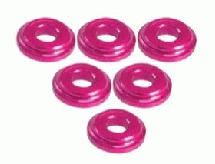 3Racing Shock Tower Shim M8 x 2mm (6pcs) - Pink For Zero S, XI, FF