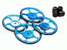 58mm 1/10 Touring Car Setup Wheel Set (4) Metric Version