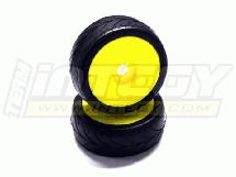 1/8 Buggy Dish Wheel+Tire (2) V-Pattern 17mm (O.D.=105mm)