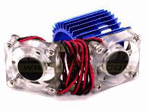 Twin Cooling Fan + Heatsink for 540/550 Size Motor w/ 36mm O.D.