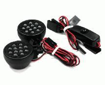Off-Road High Brightness Large Spot LED Light Set+Housing (2)+On/Off