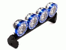 Alloy Roof Top Spot Light Set (4) LED White w/ Metal Housing for 1/10, 1/8 & 1/5