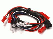 Front LED & Rear Red LED Light Set (6) w/ Wire Harness