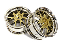 12 Spoke Bronze Tone Wheel Set (2) for 1/10 Drift and Touring Car