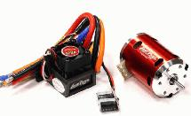 Sensored Brushless 120A System 13.5T 2500Kv Combo 2S-3S for 540 Size 1/10