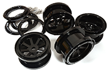 Billet Machined Alloy 8 Spoke Beadlock Wheel(4) for Axial Wraith 2.2 w/ 12mm Hex