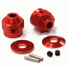 Billet Machined Hex Wheel Hub Set (2) +3 Offset for Axial Wraith 2.2
