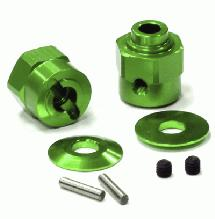 Billet Machined Hex Wheel Hub Set (2) +5 Offset for Axial Wraith 2.2