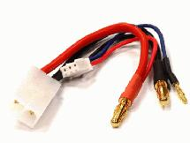 Charge Wire Cable for Tamiya Type Plug w/ JST-XH Type 2S LiPo Balance Port 100mm