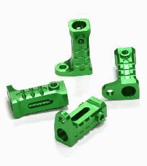 Billet Machined Alloy Rock Rail Mounts (4) for Axial SCX-10, Dingo & Honcho