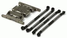 Billet Gearbox Holder & 120mm Lower Links (4) for Axial SCX-10