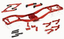 V2 Alloy Ladder Frame Chassis Kit w/ Hop-up Combo for SCX-10 Dingo, Honcho, Jeep