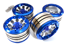 Alloy Type X 2.2 Beadlock Wheel Set Total 40oz (4) w/ 12mm Hex for Rock Crawler