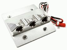 Billet Roof Top Spot Light Housing w/ LED (3) White for HPI Baja 5B, 5T & 5B2.0