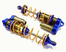 Billet Machined Rear Piggyback Shock Set (2) for Losi 5ive-T