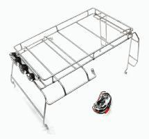 Realistic Outer Steel EXO-Roll Cage w/ LED Spot Lights for 1/10 D90 Scale Body