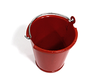 Realistic 1/10 Scale Small Size Metal Bucket for Off-Road Crawling