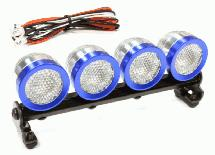 Machined Roof Top Adj Spot Light Set (4) LED White for 1/10, 1/8 & 1/5 Scale
