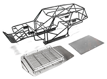 V2 Realistic T2 Steel Roll Cage Body w/ Luggage Tray for Axial Wraith 2.2