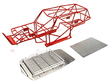 Realistic T2 Steel Roll Cage Body w/ Luggage Tray for Axial Wraith 2.2