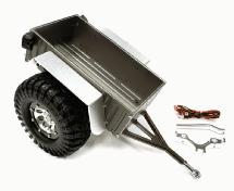 Realistic Complete 1/10 Size Utility Box Trailer for Scale Crawler Truck