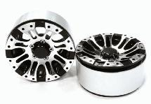 Billet Machined 8 Spoke Type DT Off-Road 1.9 Size Wheel (2) for Scale Crawler
