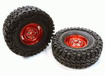 Composite 4L Type 1.9 Size Wheel & Tire (2) for 1/10 Scale Crawler (O.D.=113mm)