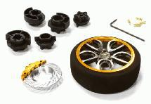 V10 Spoke Steering Wheel Set for Most HPI, Futaba, Airtronics, Hitec & KO