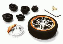 Dual 6 Spoke Steering Wheel Set for Most HPI, Futaba, Airtronics, Hitec & KO