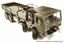 Billet Machined 8X8 10T GL High-Mobility Off-Road Truck 1/10 Size ARTR