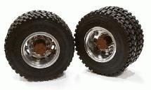 Machined Alloy T5 Rear Dually Wheel & XD Tire for Tamiya 1/14 Scale Trucks