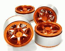 1.9 Size Billet Machined Alloy 6V Spoke Wheel(4)High Mass Type for Scale Crawler