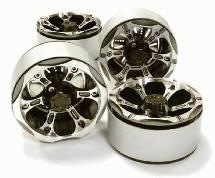 1.9 Size Billet Machined Alloy 6X Spoke Wheel(4)High Mass Type for Scale Crawler