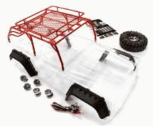 Realistic JPX Scale Body w/ Steel Roll Cage & LED Light for 1/10 Scale Crawler