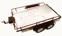 V2 Machined Alloy Flatbed Dual Axle Car Trailer Kit for 1/10 Scale RC