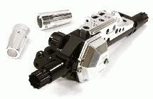 Billet Machined Rear Axle Assembly w/o Internals for Axial 1/10 Yeti Off-Road