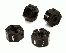 12mm Hex Wheel (4) Hub 7mm Thick for 1/10 Traxxas, Axial, Tamiya, TC & Drift