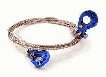 1/10 Model Scale Recovery Winch Cable w/ Hooks for Off-Road Crawler