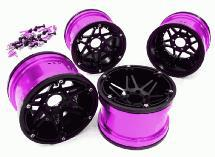 Billet Machined 6 Spoke 2.2 6-Bolt Type Wheels for 1/10 Scale Rock Crawler