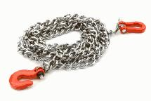 Realistic 1/10 Scale Metal Drag Chain w/ Bow Shackle & Tug Hooks for Off-Road