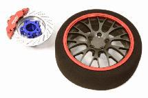 Billet Machined Alloy 20 Spoke Mesh Steering Wheel Set for Traxxas Radio