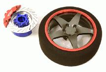 Billet Machined Alloy 5 Spoke Steering Wheel Set for Traxxas Radio Transmitter