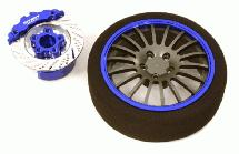 Billet Machined Alloy 18 Spoke Steering Wheel Set for Traxxas Radio Transmitter