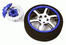 Billet Machined Alloy 6 Spoke Steering Wheel Set for Traxxas Radio Transmitter