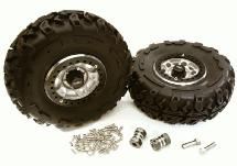 2.2x1.5-in. High Mass Wheel, Tires & 14mm Offset Hubs for 1/10 Crawler OD=128mm