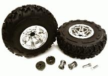 2.2x1.75-in. High Mass Wheel, Tires & 14mm Offset Hubs for 1/10 Crawler OD=128mm